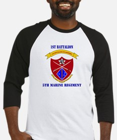 1st Battalion 5th Marines with Text Baseball Jerse