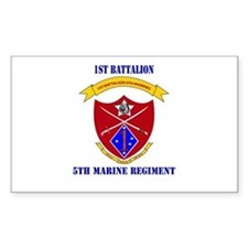 1st Battalion 5th Marines with Text Decal
