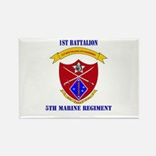 1st Battalion 5th Marines with Text Rectangle Magn