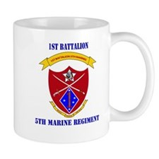 1st Battalion 5th Marines with Text Mug