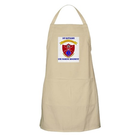 1st Battalion 5th Marines with Text Apron