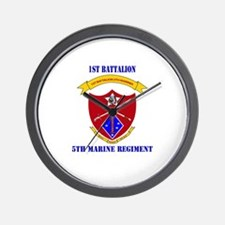1st Battalion 5th Marines with Text Wall Clock