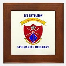 1st Battalion 5th Marines with Text Framed Tile