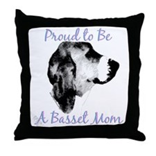 Basset 2 Throw Pillow