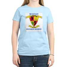 3rd Battalion 5th Marines with Text T-Shirt