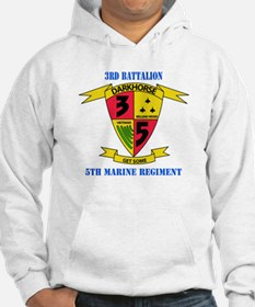 3rd Battalion 5th Marines with Text Hoodie