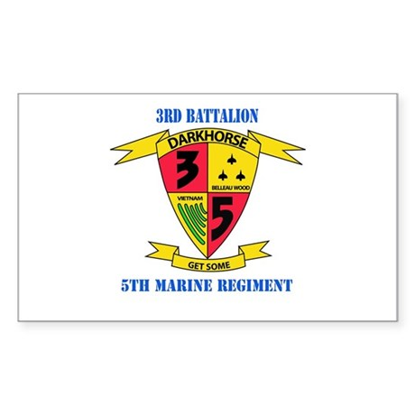 3rd Battalion 5th Marines with Text Sticker (Recta