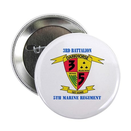 """3rd Battalion 5th Marines with Text 2.25"""" Button ("""