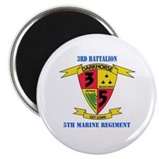 "3rd Battalion 5th Marines with Text 2.25"" Magnet ("