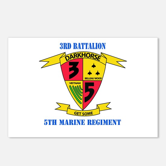 3rd Battalion 5th Marines with Text Postcards (Pac