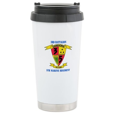 3rd Battalion 5th Marines with Text Stainless Stee