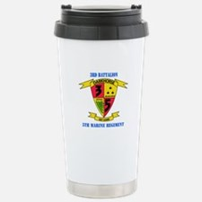 3rd Battalion 5th Marines with Text Travel Mug