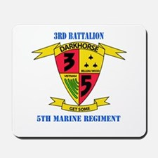 3rd Battalion 5th Marines with Text Mousepad