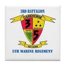 3rd Battalion 5th Marines with Text Tile Coaster