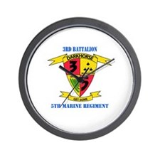 3rd Battalion 5th Marines with Text Wall Clock