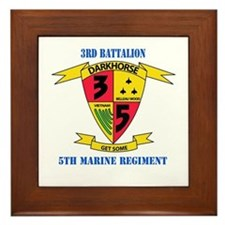 3rd Battalion 5th Marines with Text Framed Tile