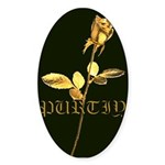 Purity Rose Oval Sticker