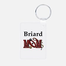 Briard Dog Mom Keychains