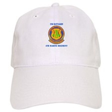 2nd Battalion 4th Marines with Text Baseball Cap
