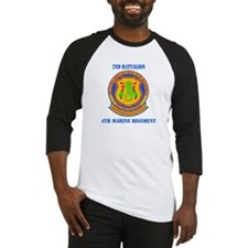 2nd Battalion 4th Marines with Text Baseball Jerse
