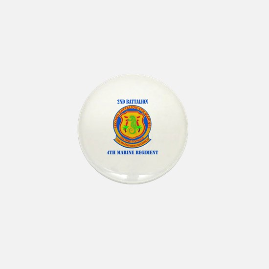2nd Battalion 4th Marines with Text Mini Button