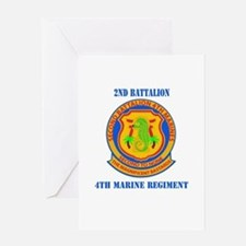 2nd Battalion 4th Marines with Text Greeting Card