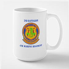 2nd Battalion 4th Marines with Text Mug