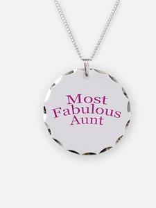 Most Fabulous Aunt Necklace