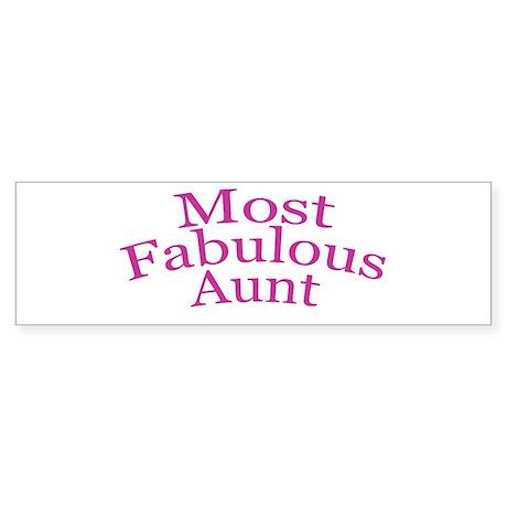 Most Fabulous Aunt Sticker (Bumper)