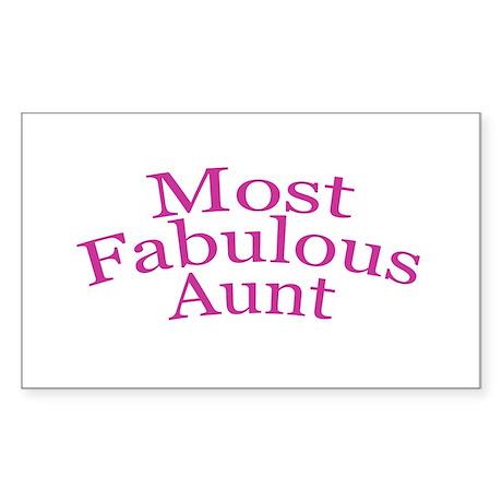 Most Fabulous Aunt Sticker (Rectangle)
