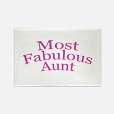Most Fabulous Aunt Rectangle Magnet