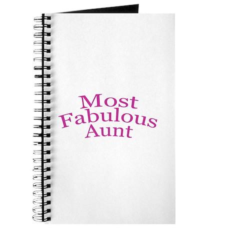 Most Fabulous Aunt Journal
