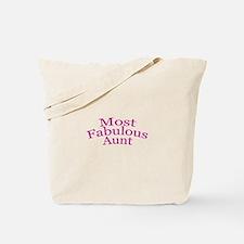 Most Fabulous Aunt Tote Bag