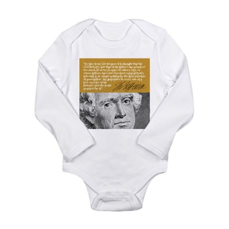 THOMAS JEFFERSON Long Sleeve Infant Bodysuit