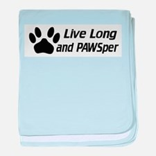 Live Long And Pawsper baby blanket