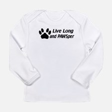 Live Long And Pawsper Long Sleeve Infant T-Shirt