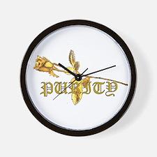 The Gethsemene Rose Wall Clock