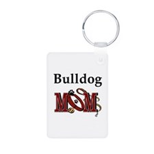 Bulldog Mom Aluminum Photo Keychain