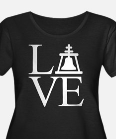 Love Riv Women's Scoop Neck Dark Plus Size T-S
