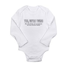 Two-thirds triplets Long Sleeve Infant Bodysuit