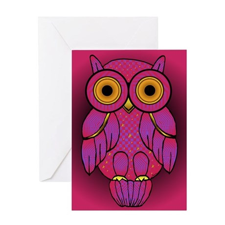 My$t Owl Greeting Card
