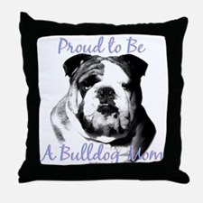 Bulldog 3 Throw Pillow