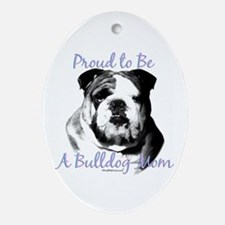 Bulldog 3 Oval Ornament