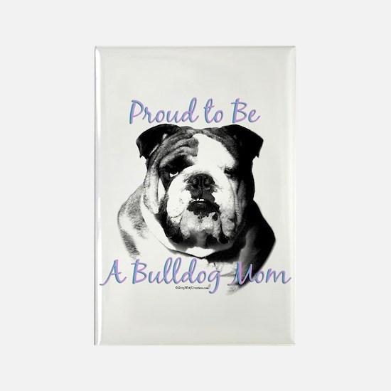 Bulldog 3 Rectangle Magnet