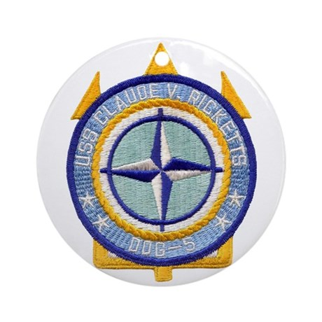 USS CLAUDE V. RICKETTS Ornament (Round)