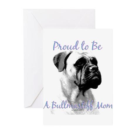 Bullmastiff 3 Greeting Cards (Pk of 10)