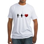 Man + Woman = LOVE Fitted T-Shirt