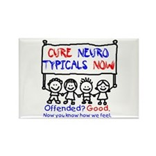 Cure Neurotypicals Rectangle Magnet