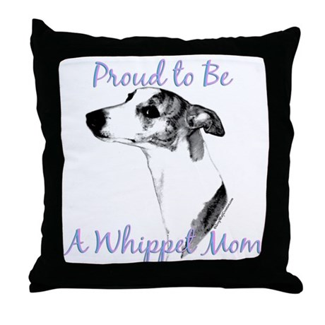 Whippet 2 Throw Pillow