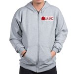 Red Shirt Society Zip Hoodie